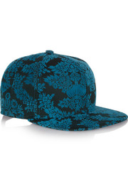 New Era flocked cotton-twill baseball cap