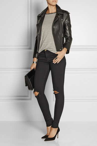 J Brand | 620 Super Skinny mid-rise distressed jeans | NET-A ...