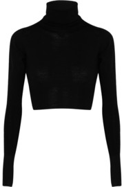 MM6 Maison Martin Margiela Cropped wool turtleneck sweater