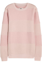 MM6 Maison Martin Margiela Striped cotton-blend jersey sweatshirt