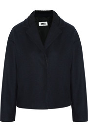 MM6 Maison Martin Margiela Wool-blend felt bomber jacket