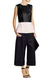 MM6 Maison Martin Margiela Velvet-paneled crepe top