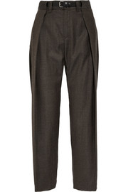 MM6 Maison Martin Margiela Wool-blend gabardine wide-leg pants