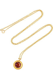 MUNNU 22-karat gold spinel pendant necklace
