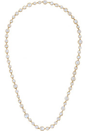 MUNNU 22-karat gold moonstone necklace