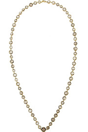 MUNNU 22-karat gold smokey quartz necklace