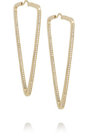 Lynn Ban 14-karat gold diamond earrings