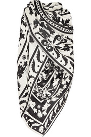 Temperley London Isodora wool and silk-blend shawl