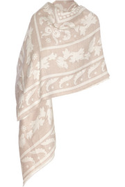 Temperley London Isadora wool and silk-blend shawl
