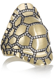 Venyx Tortuga 9-karat gold diamond ring