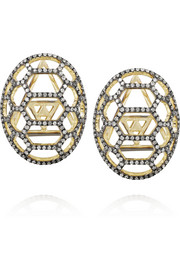 Venyx Tortuga 9-karat gold diamond earrings