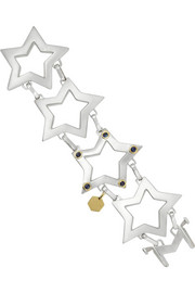 Ann Dexter-Jones Sterling silver, 18-karat gold and sapphire star bracelet
