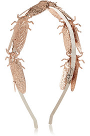 Eugenia Kim Milou rose gold-plated headband