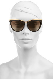 Alexander McQueen Cat eye acetate and metal sunglasses