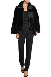 Altuzarra Manray leather-trimmed shearling jacket