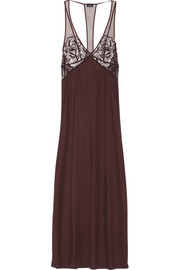 La Perla Lace-paneled stretch-jersey nightdress