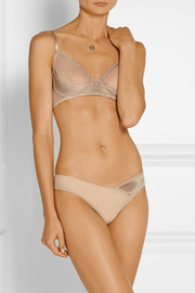 La Perla Satin and stretch-tulle underwired bra