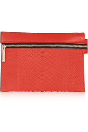 Victoria Beckham Leather and python shoulder bag