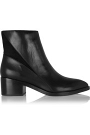 Sigerson Morrison Scarlett suede-paneled leather ankle boots