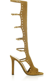 Tamara Mellon Bad Girl High cutout suede sandals