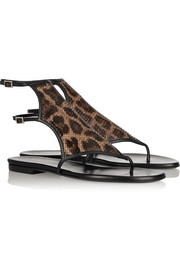 Tamara Mellon Jungle Fever leopard-print leather sandals