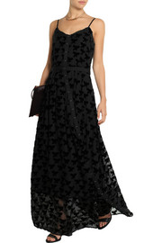 Band of Outsiders Flocked chiffon maxi dress