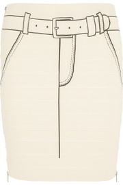 Band of Outsiders Printed stretch-bandage skirt