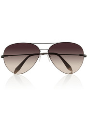 Victoria Beckham Feather aviator metal sunglasses