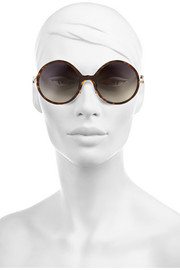 Victoria Beckham Round-frame acetate and gold-plated sunglasses