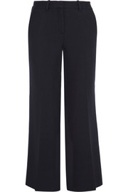 Theory Inza cropped stretch-twill flared pants