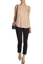 Theory Bringam silk-georgette top