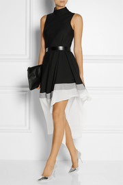 Theory Dexas wool and silk-blend dress
