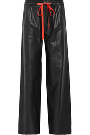 Alexander Wang Leather wide-leg pants