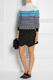 Alexander Wang Cutout textured-knit turtleneck sweater