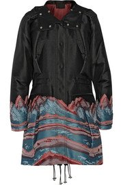Alexander Wang Hooded satin-jacquard parka