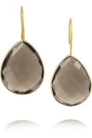 Chan Luu Gold-plated quartz earrings