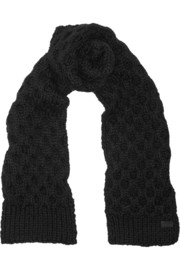 Coach Honeycomb-knit wool-blend scarf