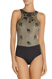 La Perla Ombre Floral sequined swimsuit