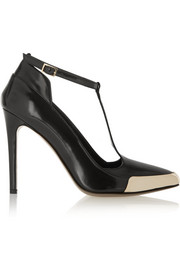 Jason Wu Polished-leather T-bar pumps