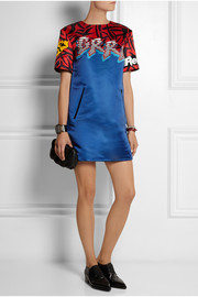 Marc by Marc Jacobs Motocross printed satin mini dress