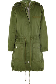 Marc by Marc Jacobs Hooded cotton-twill parka