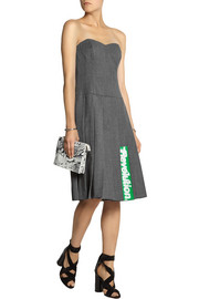 Marc by Marc Jacobs Junko pleated printed wool dress