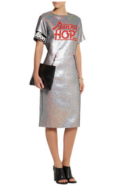 Marc by Marc Jacobs Printed holographic crepe dress