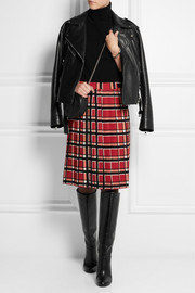 Marc by Marc Jacobs Toto checked crepe skirt