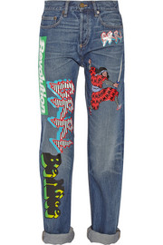 Marc by Marc Jacobs Annie printed mid-rise boyfriend jeans