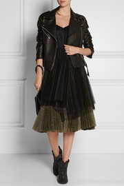 Marc by Marc Jacobs Pleated metallic tulle midi dress