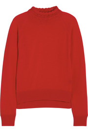 Simone Rocha Crochet-trimmed merino wool sweater