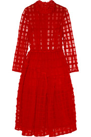 Simone Rocha Wool-embroidered tulle dress