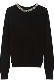 Simone Rocha Bead-embellished merino wool sweater