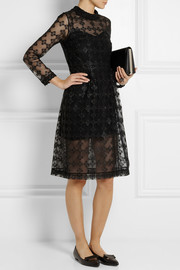 Simone Rocha Metallic-embroidered tulle dress